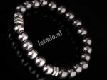 Armband Luxe Staal Met Hematiet Natuurstenen