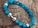 Armband Natuursteen Blauw