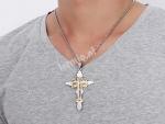 Kruis Ketting voor Mannen 24 inc Staal